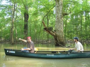 canoeing the cache